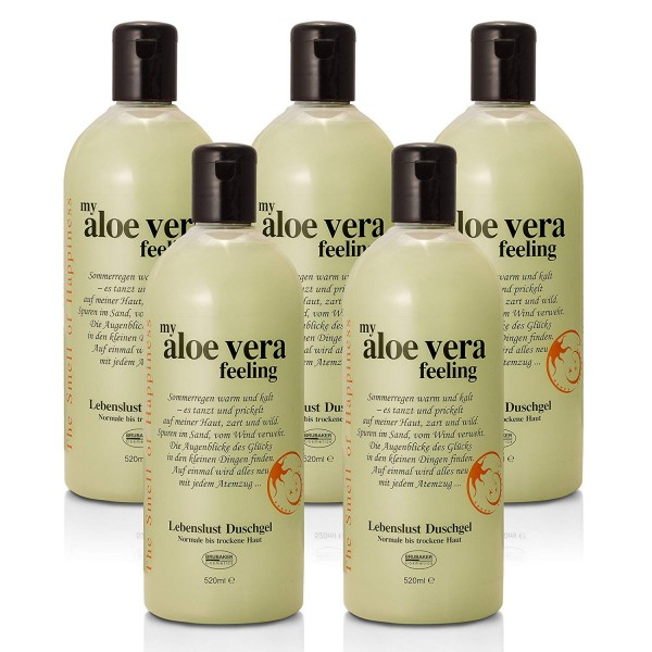 "BRUBAKER Happiness ""My Aloe Vera Feeling"" 5x Duschgel à 520 ml Set Aloe Vera"